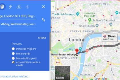 Con Google Maps ora è possibile trovare i percorsi accessibili