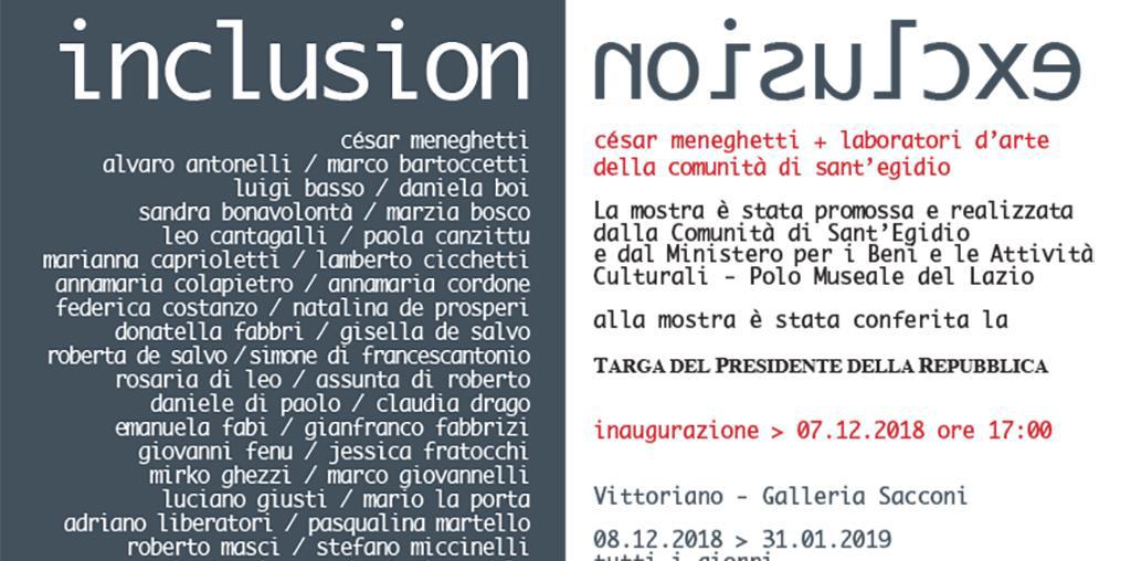 La mostra Inclusion/Exclusion